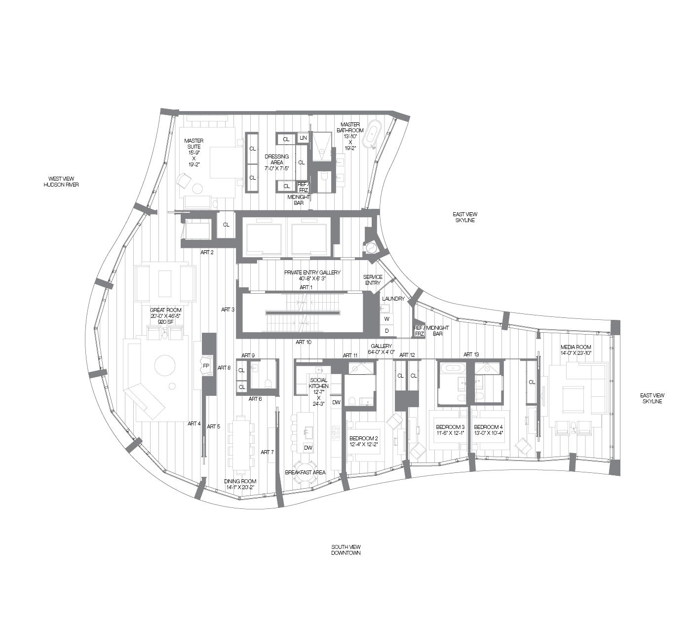 Copper Cove Apartments: West Village Penthouse Apartments